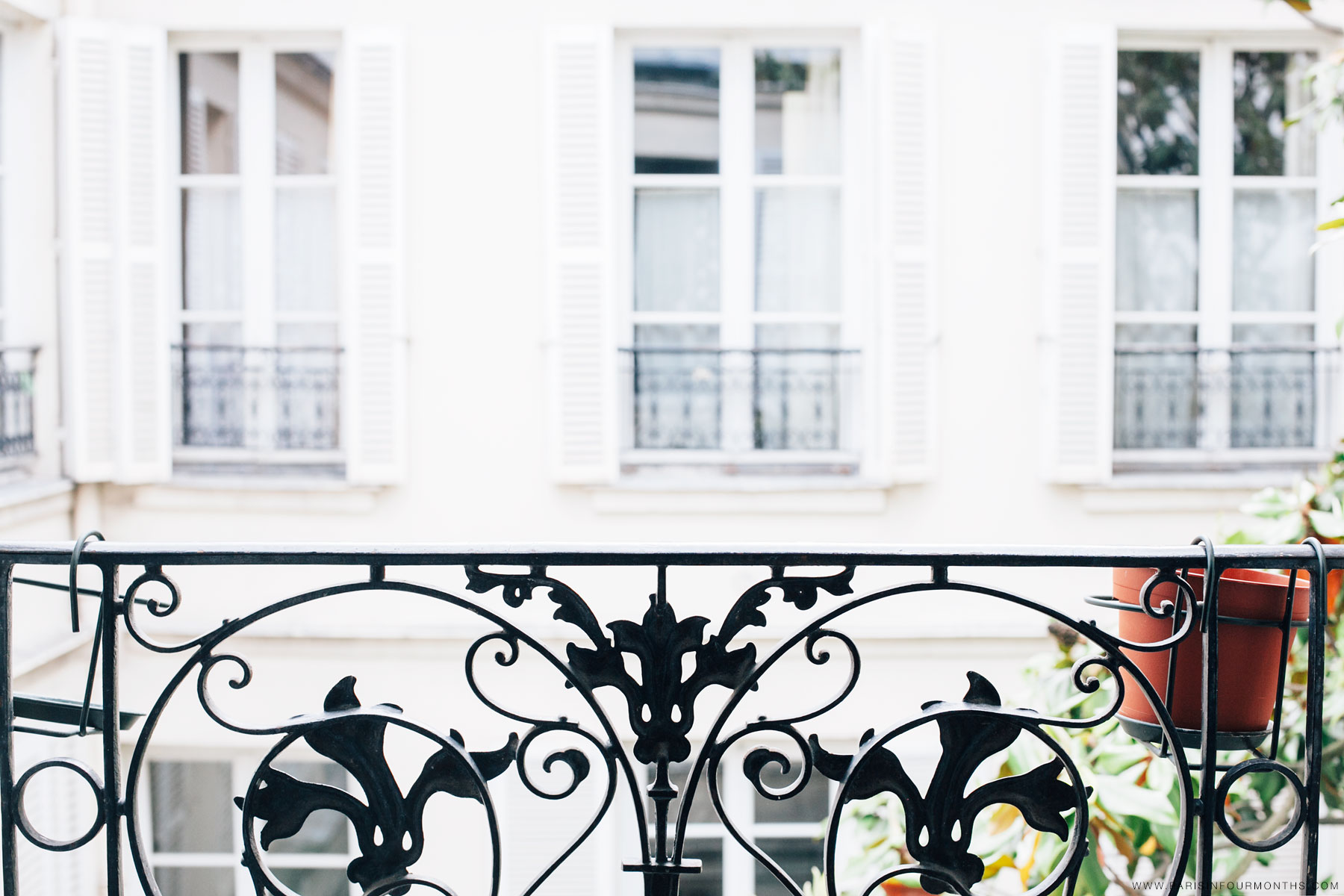 Balcony view by Carin Olsson (Paris in Four Months)