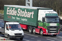 Volvo FH 6x2 Tractor with 3 Axle Curtainside Trailer - PX11 BXF - H4644 - Alexia Mae - Eddie Stobart - M1 J10 Luton - Steven Gray - IMG_4828