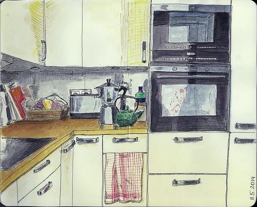 My kitchen for Sketchbookskool
