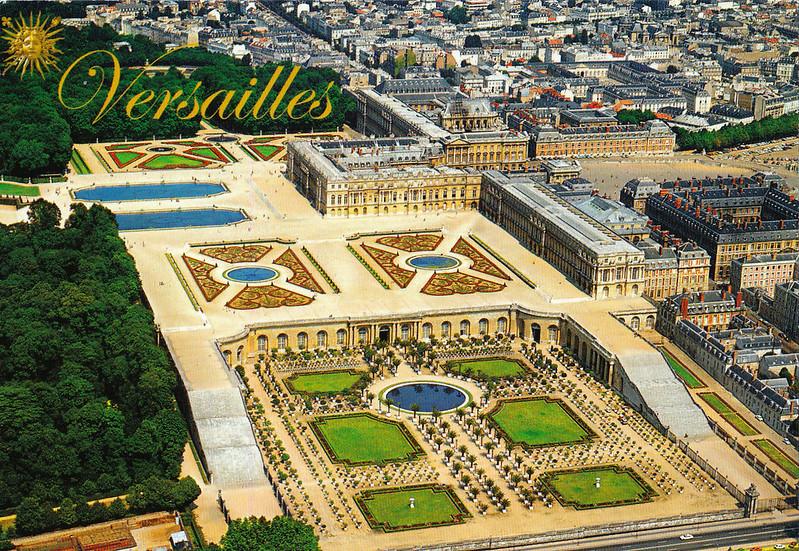 Palacio de Versalles vista aérea