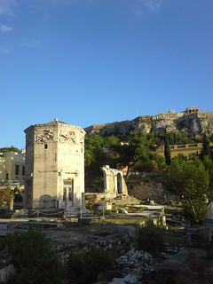 Image of Tower of the Winds near Athens. athens 2014 amical