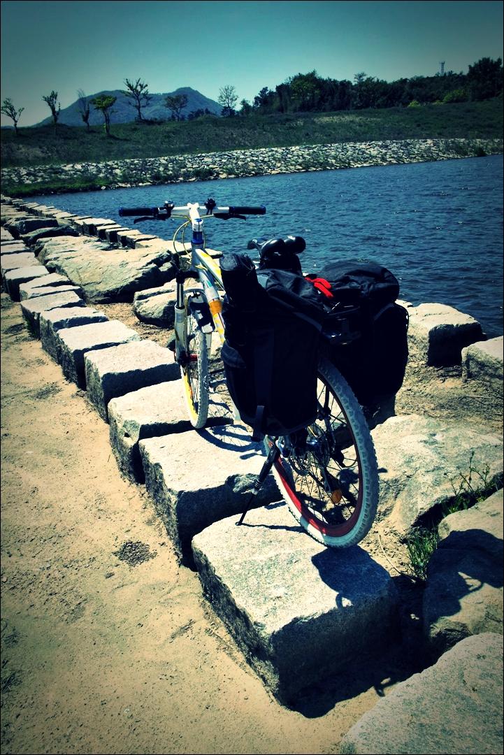 징검다리-'영산강 자전거 종주 Yeongsan_River_Bike_Riding'