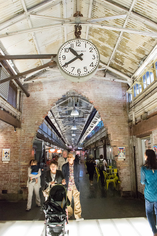 Chelsea Market Train Station Clock in New York