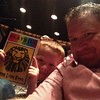 Dinner at Junior's and now we're at the theater waiting for the show to start. I wanted to see The Book of Mormon, but I guess The Lion King will do. :) #newyorkwithluke