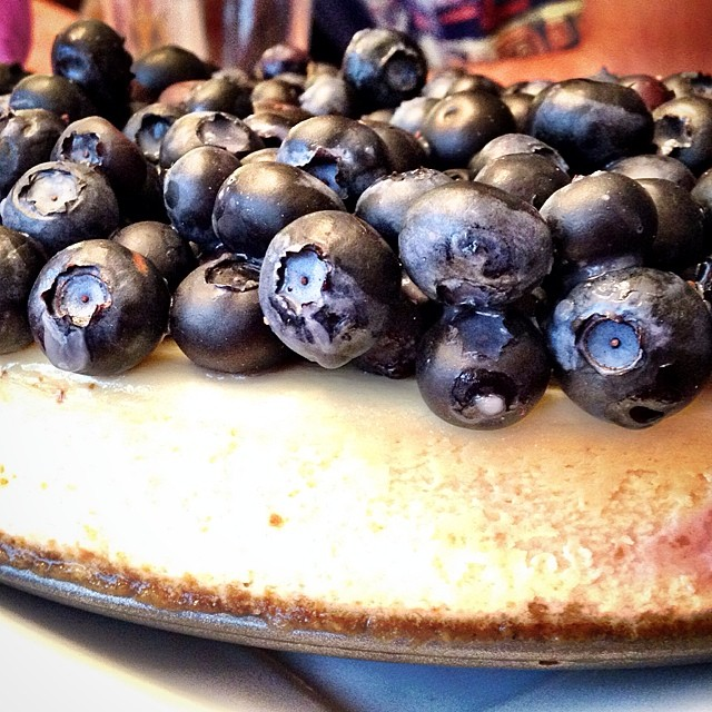 Blueberry cheesecake I made