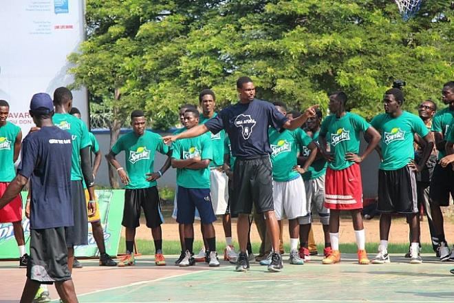 2014 SpriteBall Clinic ends with Miami Heat forward; Chris Bosh
