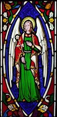 angel of the annunciation by Thomas Wilmshurst, 1855