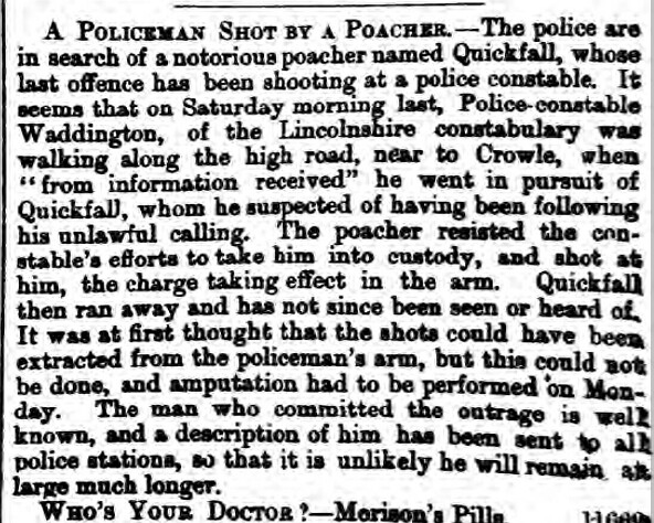 Nottinghamshire Guardian - Friday 15 June 1866 Quick fallshooting