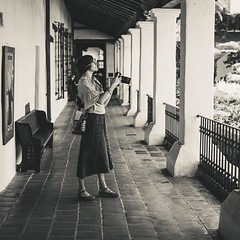 She's on a Mission! My lovely friend and fellow photographer Jenn Calderon. Great to meet up in Santa Barbara last month at Mission Santa Barbara.