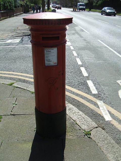 Victorian pillar box.