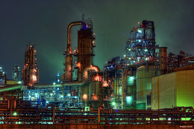 HDR Photo: Factory night view 'Various'