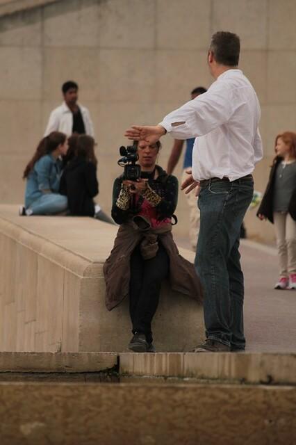 Facendo delle riprese al jardin du Trocadero
