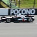 Will Power rolls down the front stretch at Pocono Raceway