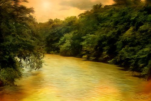 sunset brazil art nature water colors digital river photography photo textures shining 2013 artdigital cs5 awardtree magicunicornmasterpiece exoticimage ♣cleide♣ neatartii