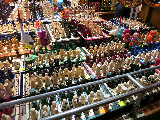 Chess sets.