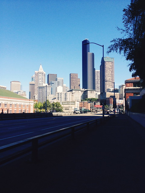 Seattle Skyline from King Street Station