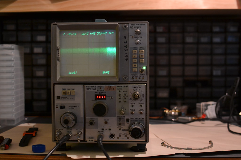 Loopback test of the 50MHz calibration signal