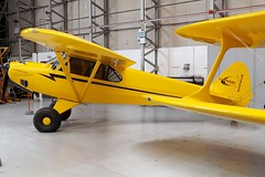 aviation, airplane, propeller driven aircraft, yellow, wing, vehicle, piper pa-18, piper j-3 cub, propeller,