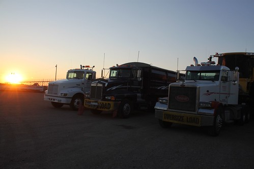 Equipment all parked for the night!