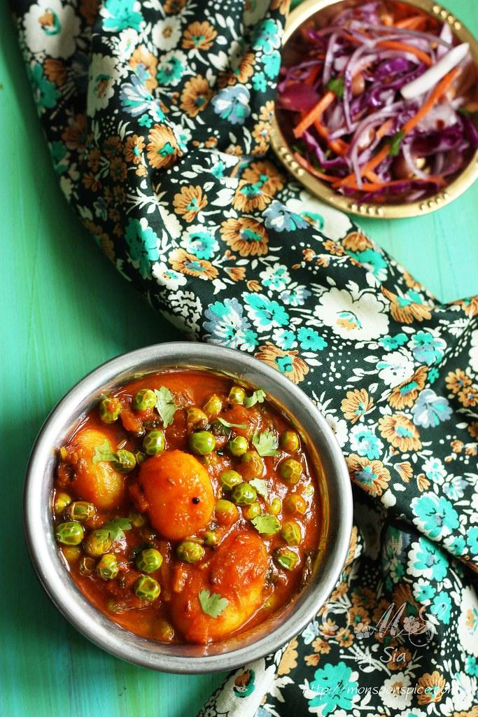 ... of Spices...: Aloo Matar Recipe | Simple Vegan Potato and Peas Curry