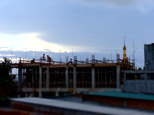 pagoda asia burma august tropical myanmar haan paan hpaan phaan