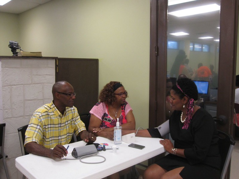 Getting a free blood pressure checkup is a great way for parents to start the school year and a healthy example for their children.