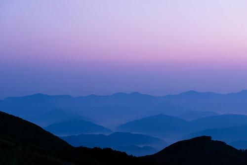 morning blue light summer sky orange sun mountain color love nature colors beautiful silhouette japan night sunrise landscape photography nikon scenery bluesky d800 2470mm 2470 nikoor
