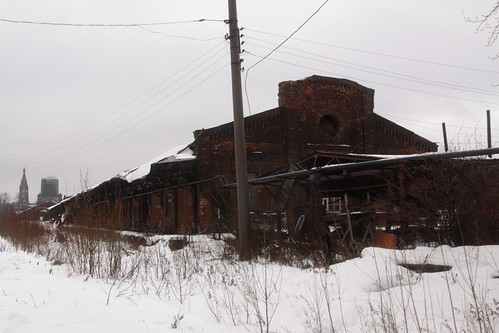 Goods shed on the eastern side of the railway yard