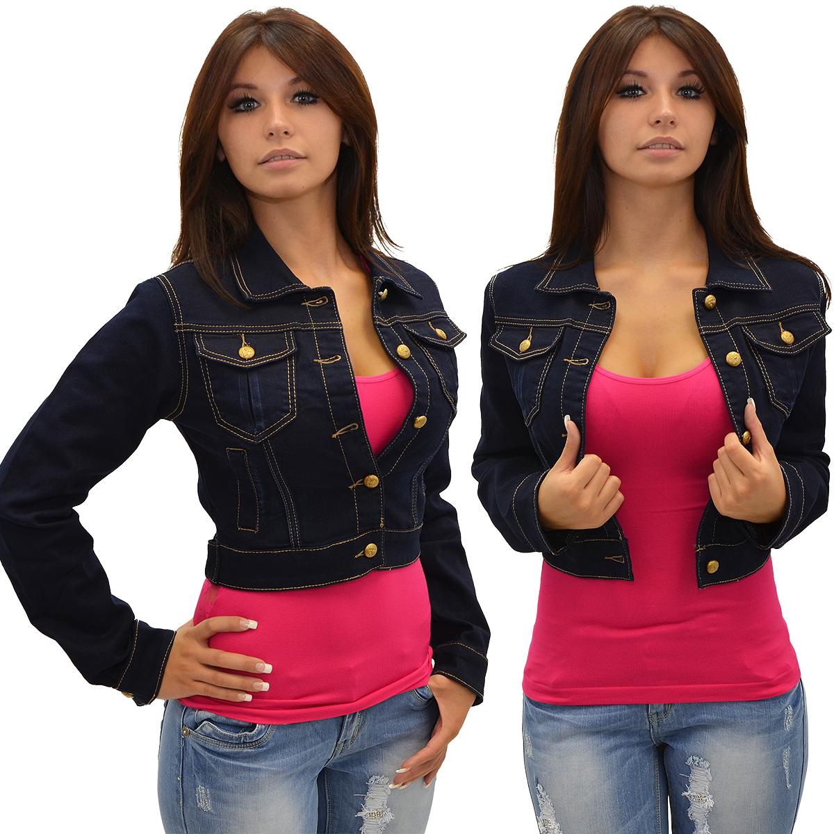 m05 damen jeans jacke langarm jeansjacke j ckchen bolero kurz blau ebay. Black Bedroom Furniture Sets. Home Design Ideas
