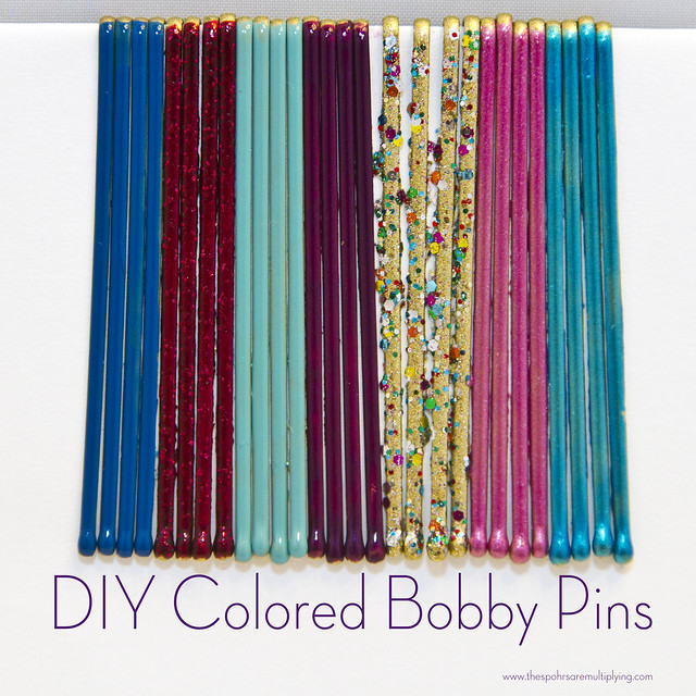 DIY Colored Bobby Pins