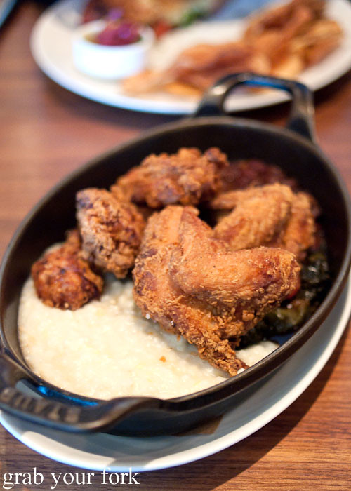 anson mill white grits at craft bar by tom colicchio top chef judge flatiron district nyc new york usa