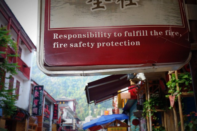 Fire safety in China.