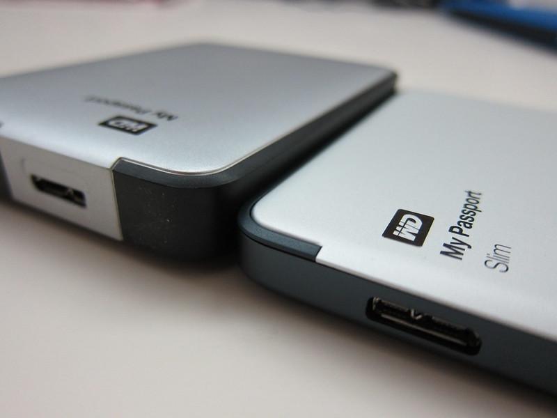 Western Digital My Passport Slim (1TB) vs Western Digital My Passport 2012 (1TB) - Thickness