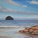 Gull Rock, Cornwall by lostartist- Tim Burns Art