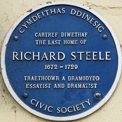 Photo of Richard Steele blue plaque