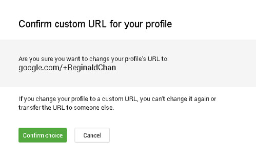You only have one chance to change Google+ custom URL
