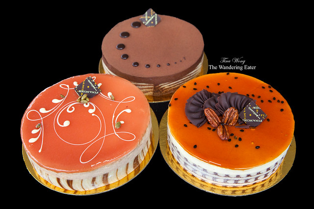 Trio of cakes from Financier Patisserie