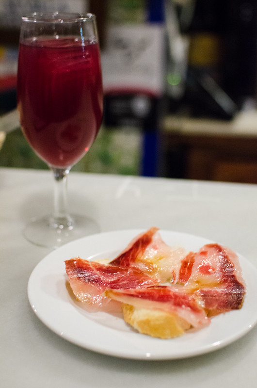 A tapa of Jamón at Las Teresas in Sevilla, Spain