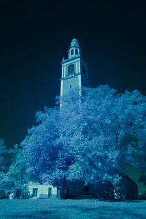 Carillon Tower Infrared Photo