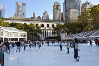 Picture Of Citi Pond Ice Skating At Bryant Park In New York City. Citi Pond Ice Skating Started November 1, 2013 And Ends Sunday March 2, 2014. Photo Taken Saturday November 2, 2013