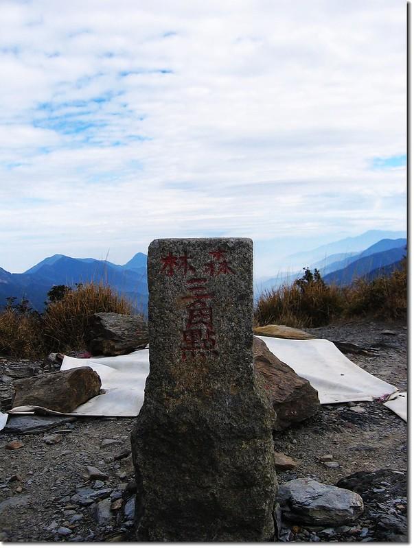 八通關山森林三角點(Elev. 3335 m)