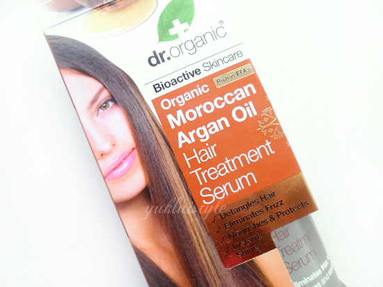 Dr Organic Moroccan Argan Oil Hair Treatment Serum review and swatch