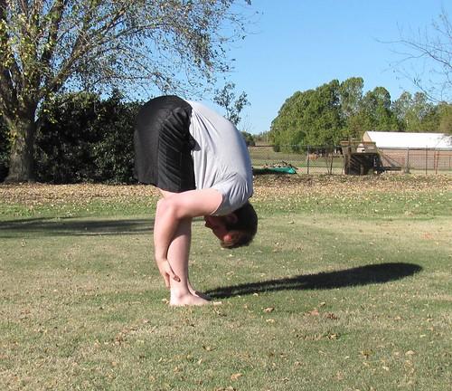Fall morning yoga '13: Uttanasana