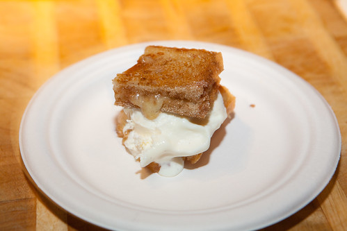 High Road Craft Ice Cream - Cinnamon-Cheddar Grilled Brioche with Cortland Apple Butter and High Road Vanilla Fleur de Sel