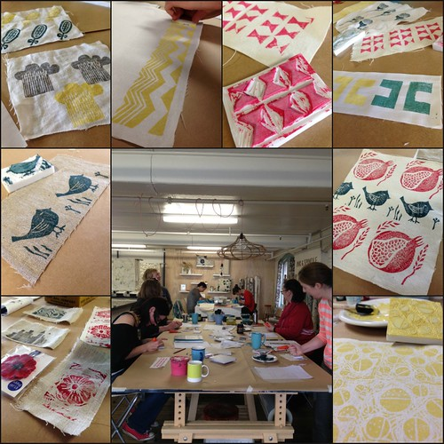 Stamp carving class