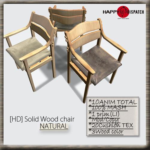 Solid Wood chair NATURAL