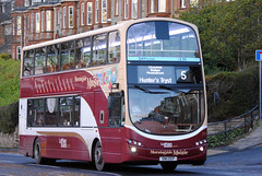 This bus was new to Lothian Buses as 999 in 2011. Seen here on Comiston Road.  The 5 was route diverted via Comiston Road and Oxgangs to join the normal route in both directions, as Greenbank Drive/Oxgangs Avenue was closed for road works. The 16 was diverted via Greenbank Drive then back on it's no...