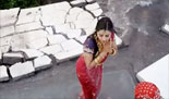 Actress Vedhika's accident scene in sringaravelan