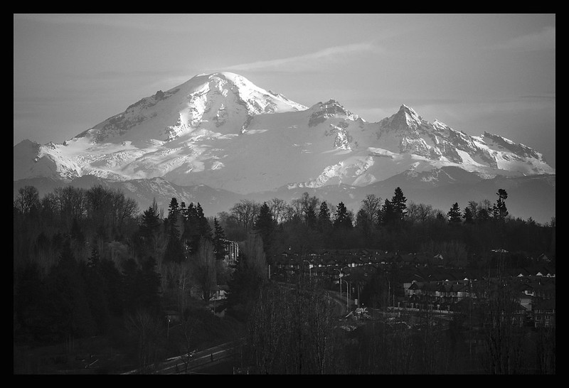 Mt. Baker view from Canada