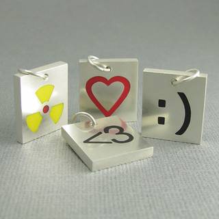 computer icon tile pendants